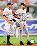 Alex Rodriguez & Derek Jeter 2008 Action Photo