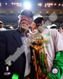 Kevin Garnett &amp; Bill Russell, Game Six of the 2007-08 NBA Finals Photo