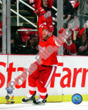 Daniel Cleary celebrates after scoring a shorthanded third period goal against the Pittsburgh Pengu Photo
