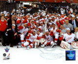 NHL 2007-08 Detroit Red Wings Stanley Cup Champions Celebration on Ice Photo