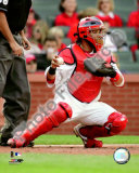 Yadier Molina 2008 Catching Action Photo