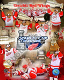 Detroit Red Wings, 2007-08 Stanley Cup Champions PF Gold Photo