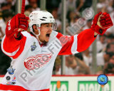 Jiri Hudler Celebrates his Game Winning Goal in Game 4 of the 2008 NHL Stanley Cup Finals Photo