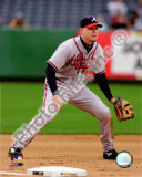 Chipper Jones 2008 Fielding Action Photo
