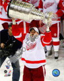 Tomas Holmstrom with the Stanley Cup, Game 6 of the 2008 NHL Stanley Cup Finals; 35 Photo