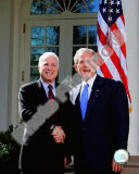 Senator John McCain & President George W. Bush at the White House March 5, 2008, Washington, DC Fotografía
