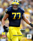 Jake Long University of Michigan Wolverines; 2007 Action Photo