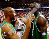 Kevin Garnett & Ray Allen 2007-08 Eastern Conference Finals Game 6 Celebration Photo