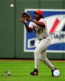 Vladimir Guerrero 2008 Fielding Action Photo