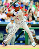 Jose Reyes 2008 Batting Action Photo