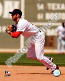 Dustin Pedroia 2008 Fielding Action Foto