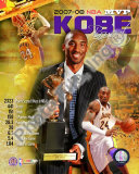 Kobe Bryant 2008 MVP Portrait Plus; LA Lakers Photo