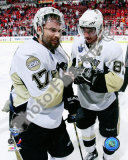 Petr Sykora & Sidney Crosby in Game 5 of the 2008 NHL Stanley Cup Finals; Celebration 19 Photo
