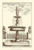 Courtyard Fountain II Prints