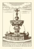 Courtyard Fountain IV Prints