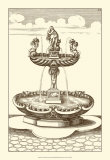 Courtyard Fountain III Print