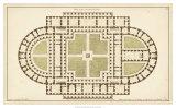 Antique Garden Plan I Giclee Print by Jean Deneufforge