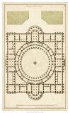 Antique Garden Plan III Giclee Print by Jean Deneufforge