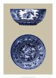 Porcelain in Blue and White I Giclee Print