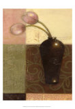 Ebony Vase with Tulips I Poster by Norman Wyatt Jr.
