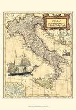 Kort over Italien Plakater