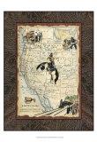 Western States Map Print