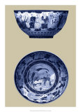 Porcelain in Blue and White II Giclee Print