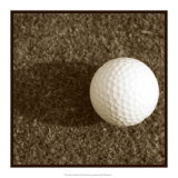Sepia Golf Ball Study IV Print by Jason Johnson