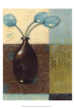 Ebony Vase with Blue Tulips II Art by Norman Wyatt Jr.