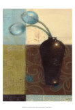 Ebony Vase with Blue Tulips I Posters by Norman Wyatt Jr.