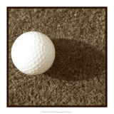 Sepia Golf Ball Study III Poster by Jason Johnson