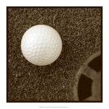Sepia Golf Ball Study I Posters by Jason Johnson