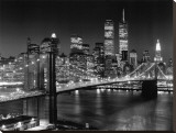 New York, New York, Brooklyn Bridge Stretched Canvas Print by Henri Silberman