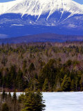 Mount Katahdin Looms in the Background Near Millinocket, Maine Photographic Print by Pat Wellenbach