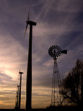 A Row of Wind Turbines Photographic Print by Charlie Riedel