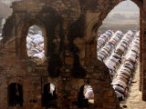 Muslims Offer Eid Prayers at the Ruins of Jami Mosque, Which was Built in 1345 AD Photographic Print by Manish Swarup