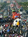 Parade of Floats Bearing Filipino Movie Stars Photographic Print