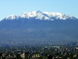 The Ajusco Mountain is Seen Behind Mexico City Photographic Print