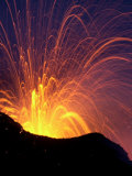Lava Bursts from Mount Etna, Near Nicolosi, Italy, Wednesday July 25, 2001 Photographic Print by Pier Paolo Cito