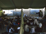 Afghan Teachers Give a Language Lesson to Boys and Girls Photographic Print by Rodrigo Abd