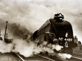 Dominon of Canada Steam Train Leaving London Kings Cross for Edinburgh, June 1938 Lámina fotográfica