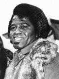 James Brown American Soul Singer Fotografisk tryk