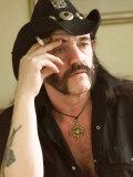 Lemmy Smoking Cigarette, Hard Rock Band Motorhead, October 2002 Lámina fotográfica