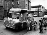 British Children Gather Round the Ice Cream Van in the Summer of 1963 Photographic Print