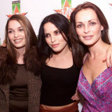 The Corrs Sisters Caroline, Andrea and Sharon, at the Hot Press Rock Awards in Dublin, October 1999 Fotografie-Druck