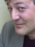 Stephen Fry Author, Actor and Film-Maker in London, Promoting His Debut Movie Bright Young Things Photographic Print