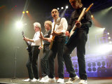 Status Quo: Andrew Bown, Rick Parfitt, Francis Rossi and Rhino, in Zurich, September 2005 Fotografisk tryk