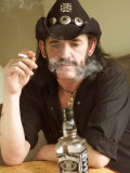Lemmy Smoking Cigarette, Hard Rock Band Motorhead, October 2002 Fotografisk trykk