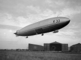Armstrong Whitworth R33 Airship Outside the Hangars at Pulham in Norfolk, April 1925 Photographic Print