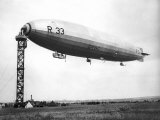 The Airship R.33 is Pictured at Croydon, July 1921 Photographic Print